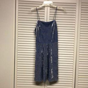 Wild Fable Blue Velvet Mini Dress